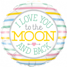 "I Love You To The Moon Foil Balloon (18"") 1pc"